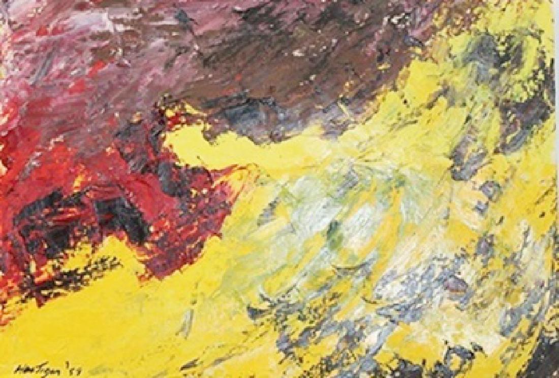 Sun Flower - Grace Hartigan - Oil On Paper