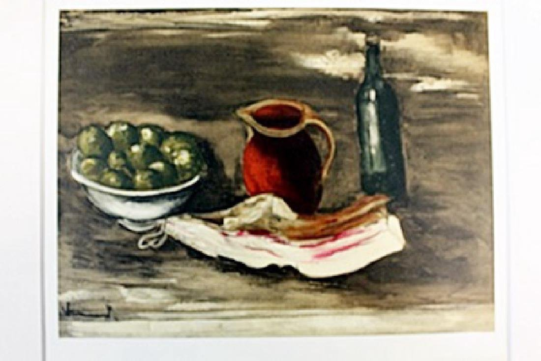 """""""Still Life With Bacon"""" Lithograph by Valmic"""