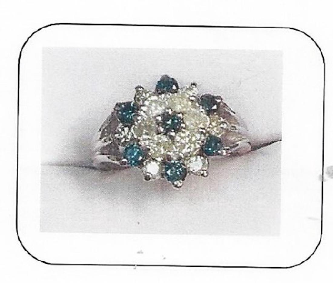 Lady's 10K white gold diamond ring