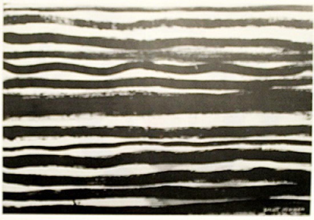 Line - Barnett Newman - Oil On Paper