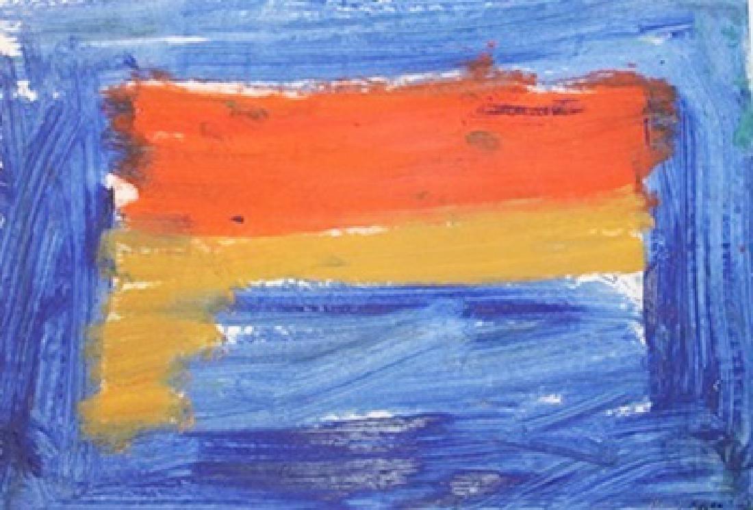Composition - Howard Hodgkin - Oil On Paper