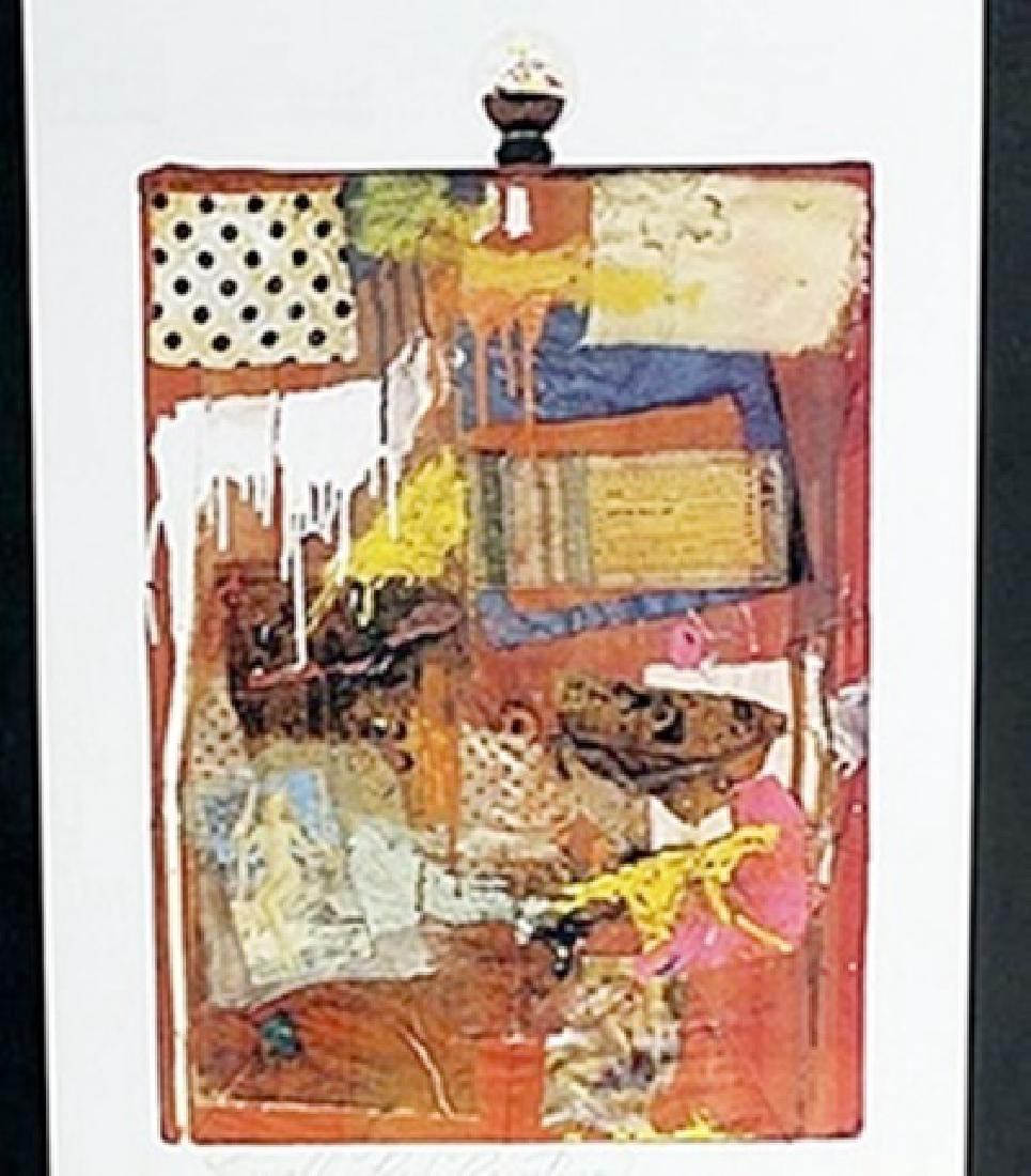 "Lithograph ""Little Red Painting""  Robert Rauschenberg"