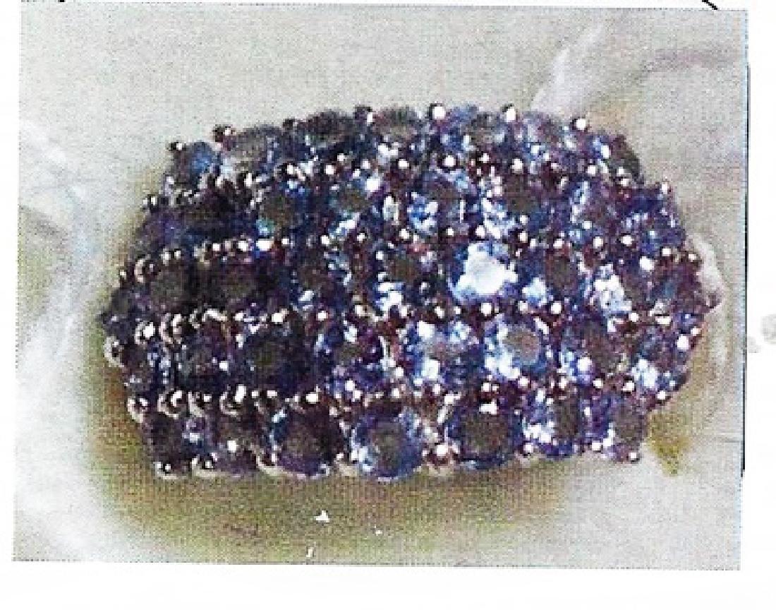 Ladys silver tanzanite ring