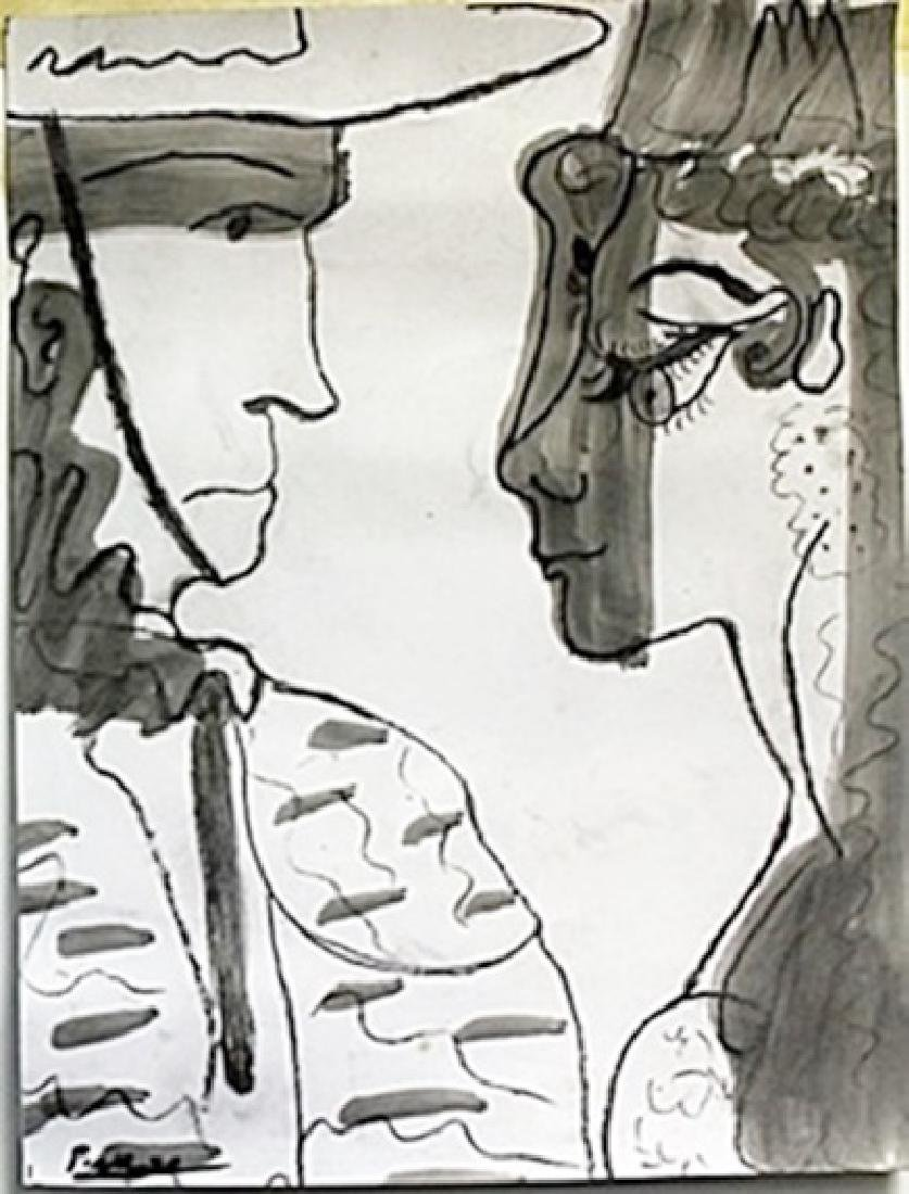 Drawing and Gouache - Pablo Picasso