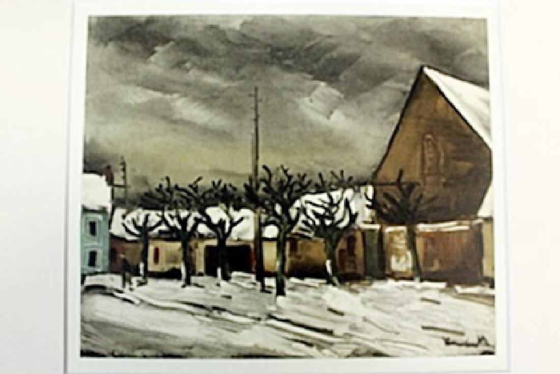 """""""Lime Trees Under Snow"""" Lithograph by Valmic"""