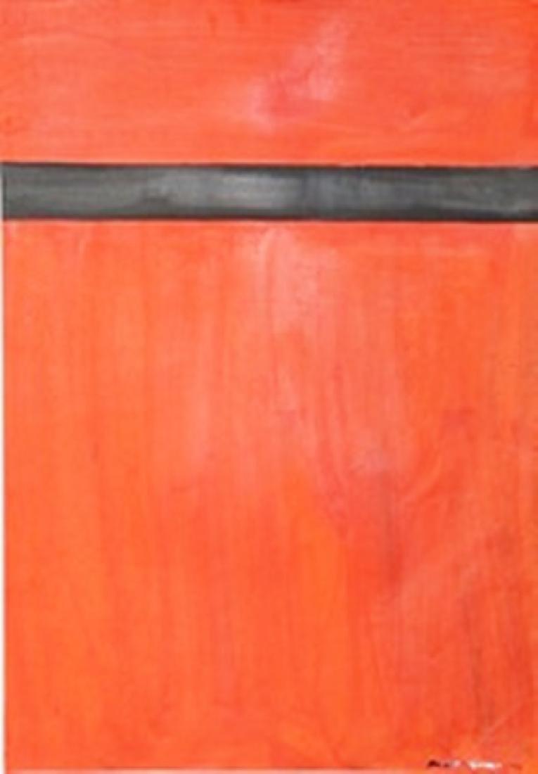 Red Black - Barnett Newman - Oil On Paper