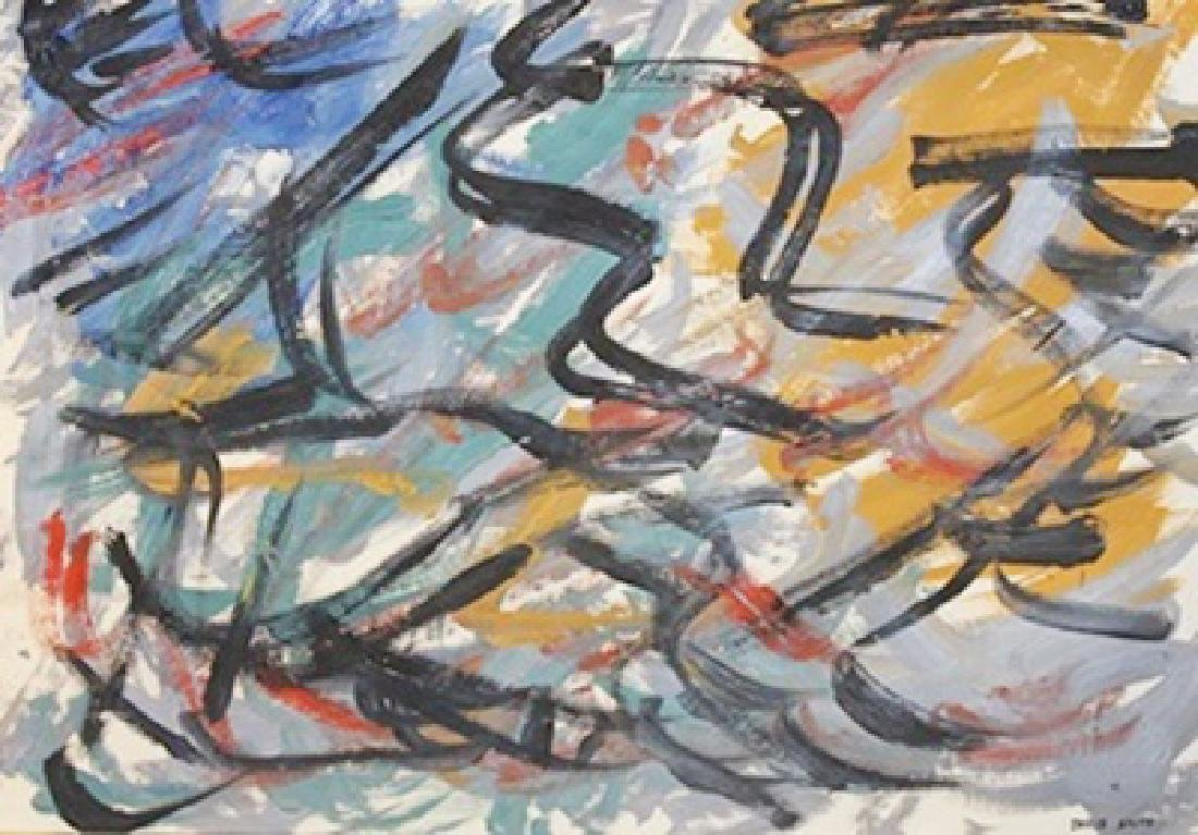 Serpentine - David Smith - Oil On Paper