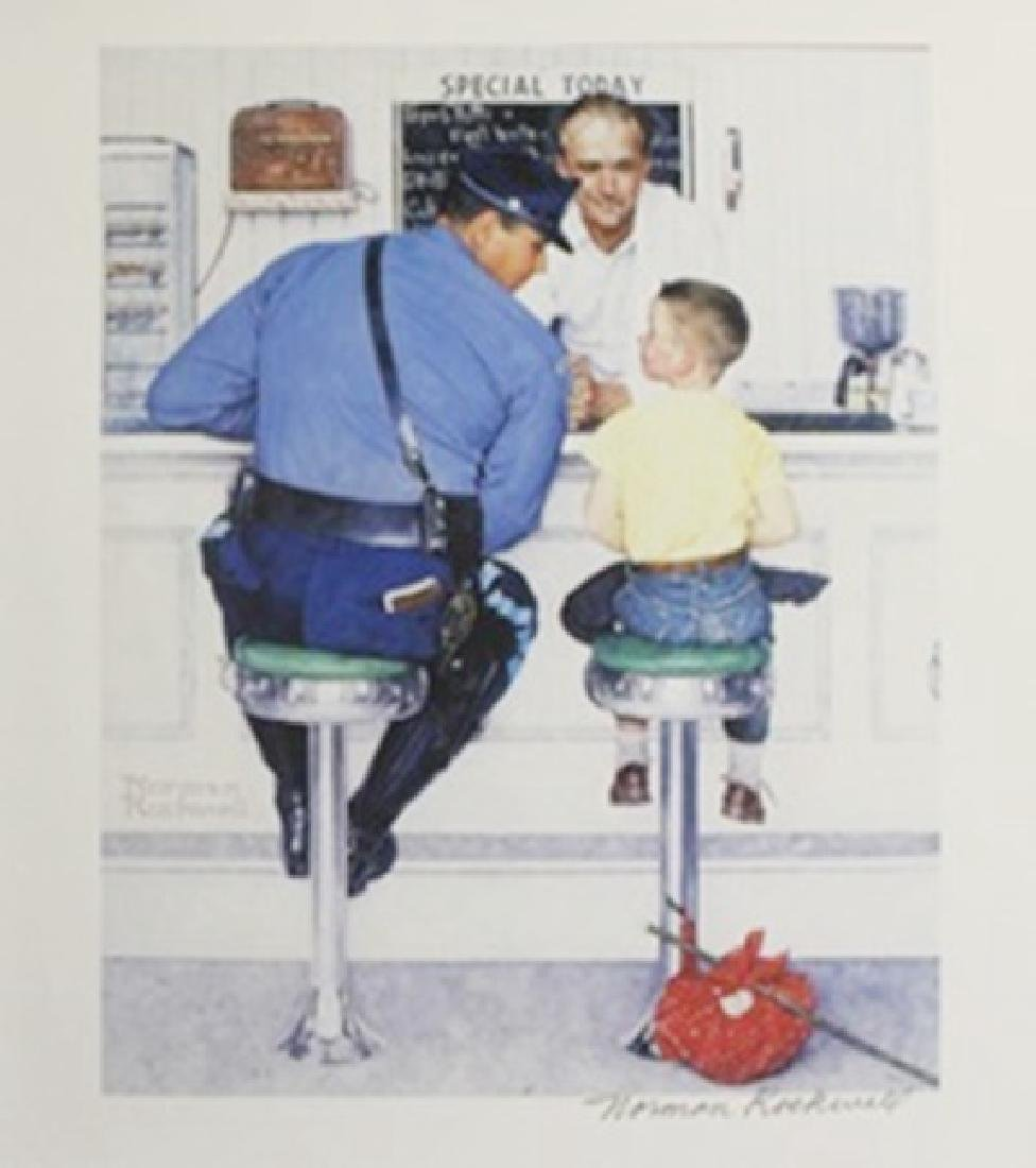 Lithograph The Runaway - Norman Rockwell