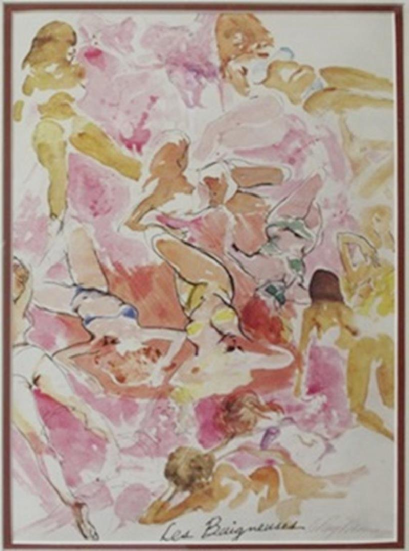 """""""Les Baigneuses"""" (The Bathers) after LeRoy Neiman - 2"""