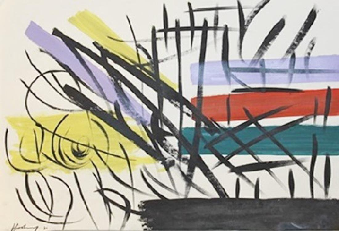 Hans Hartung - Oil On Paper