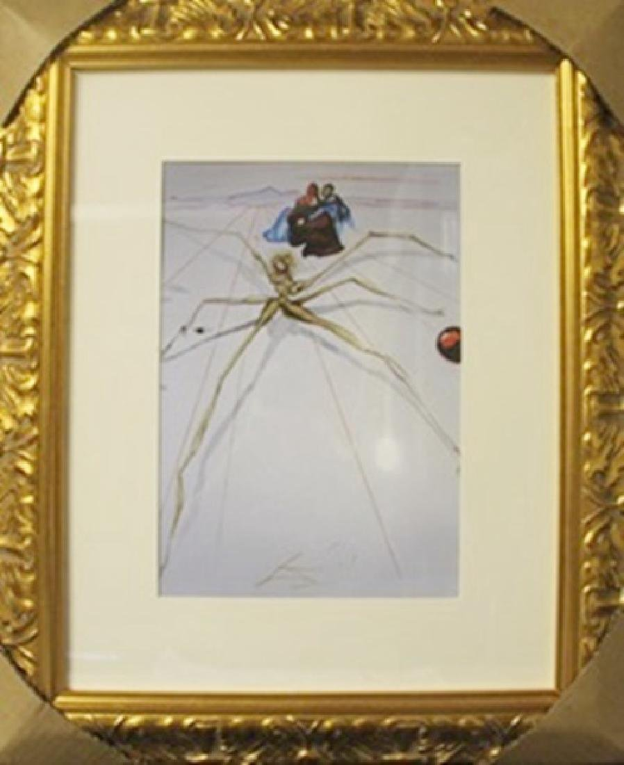 "Lithograph ""Arachne"" After  Salvador Dali"