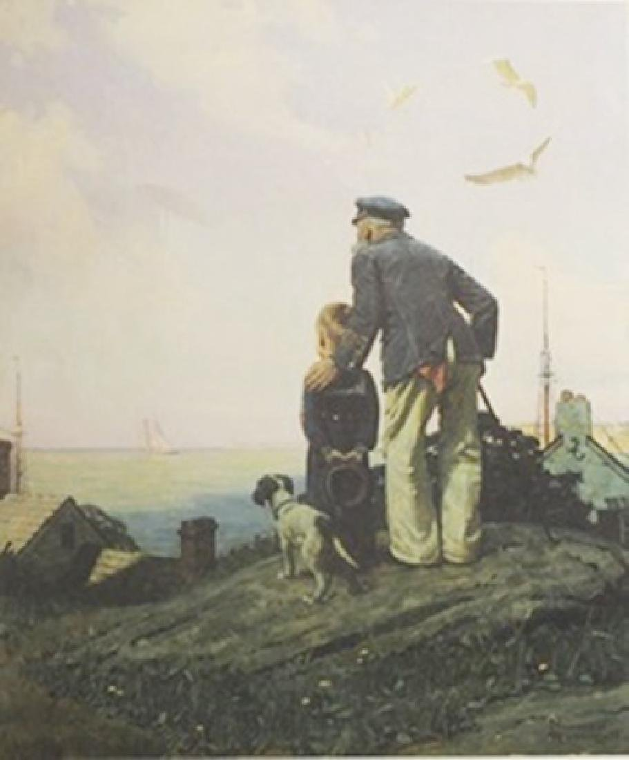Lithograph Outward Bound - Norman Rockwell