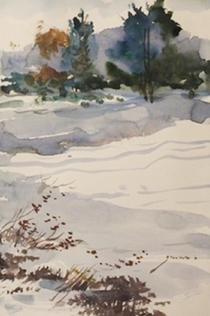 "Original Watercolor on Paper ""Winter Color II"" by"