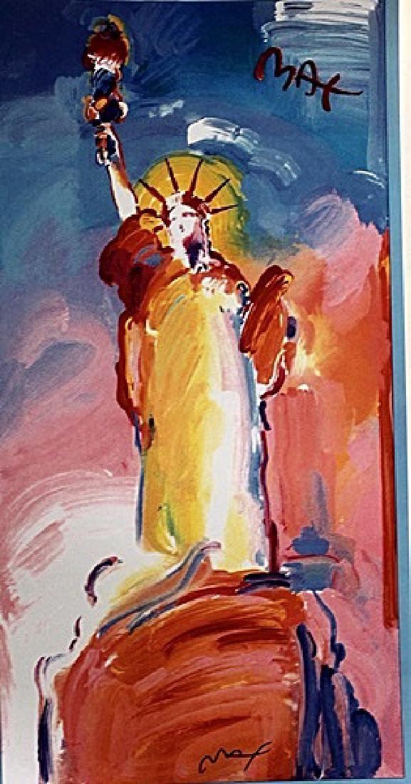 Peter Max Signed Lithograph - Statue of Liberty 2000