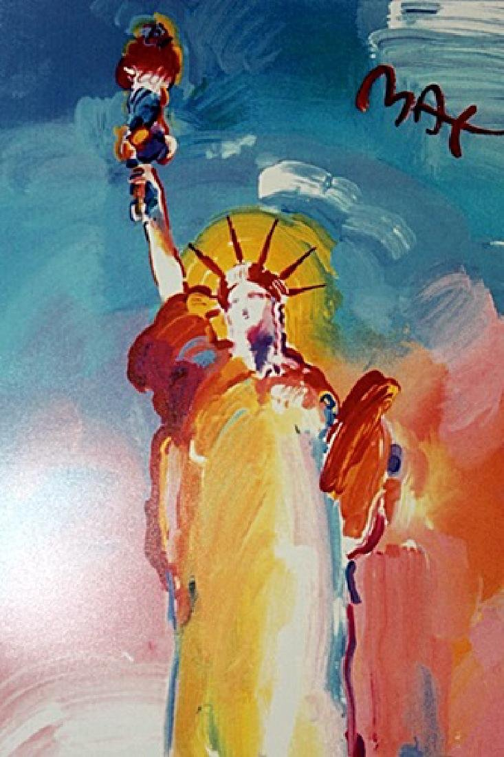 Peter Max Signed Lithograph - Statue of Liberty 2000 - 2