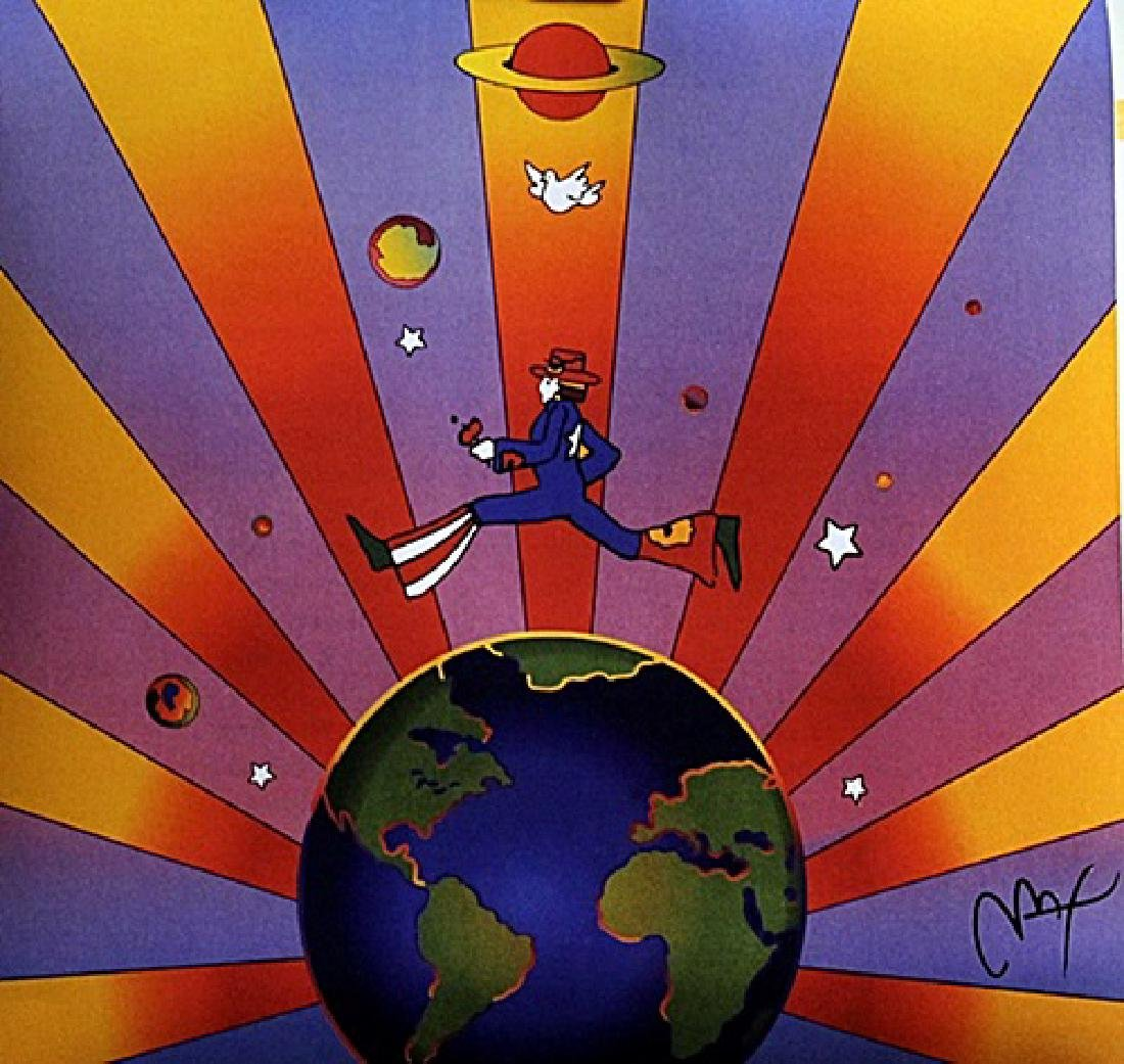 Peter Max Signed Lithograph - Earth Day 2000