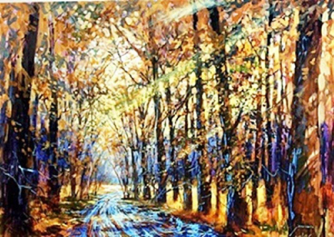 Lithograph Autumn Path by Michael Schofield