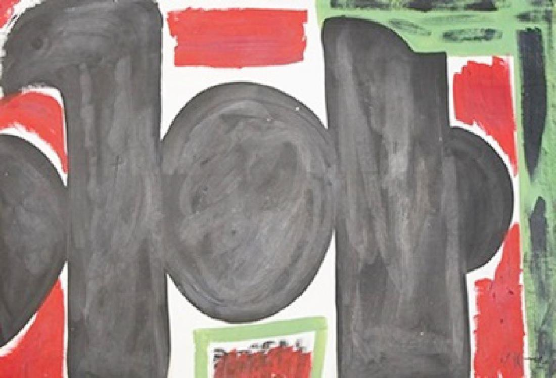 Mirror - Robert Motherwell - Oil On Paper