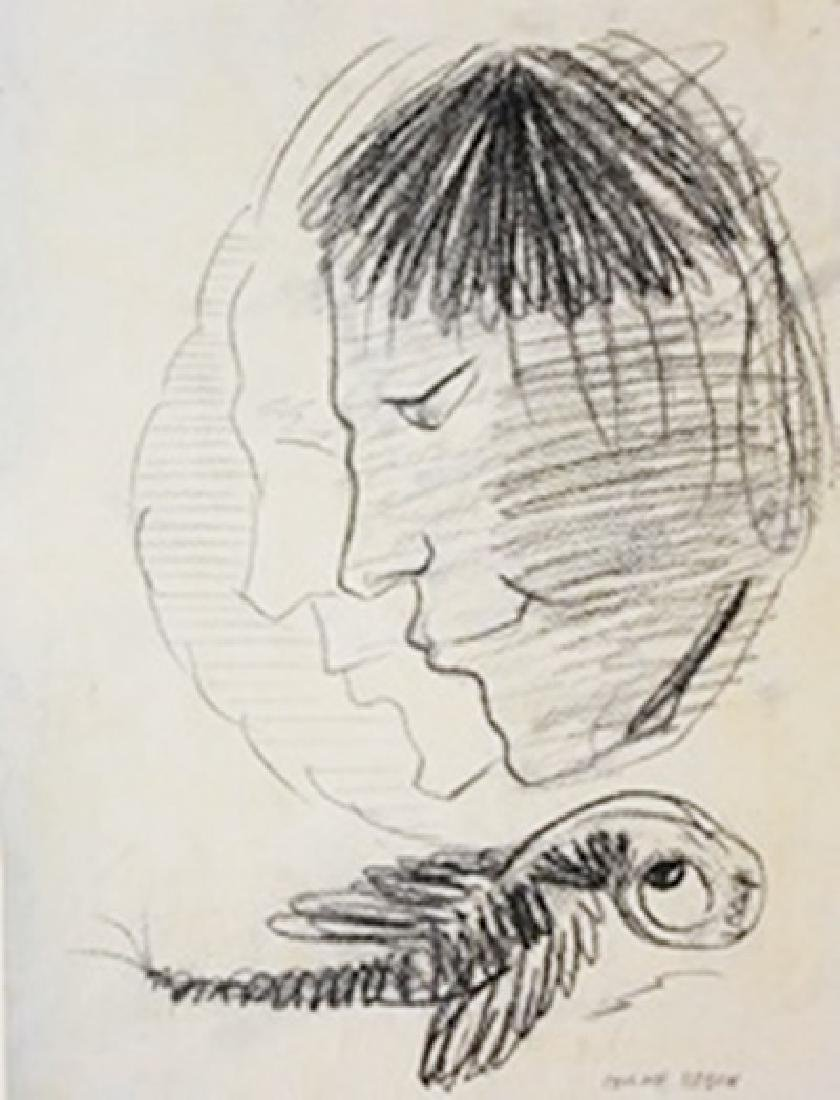 Drawing On Paper - Odilon Redon