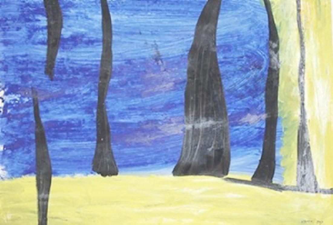 Trees - Theodoros Stamos - Oil On Paper