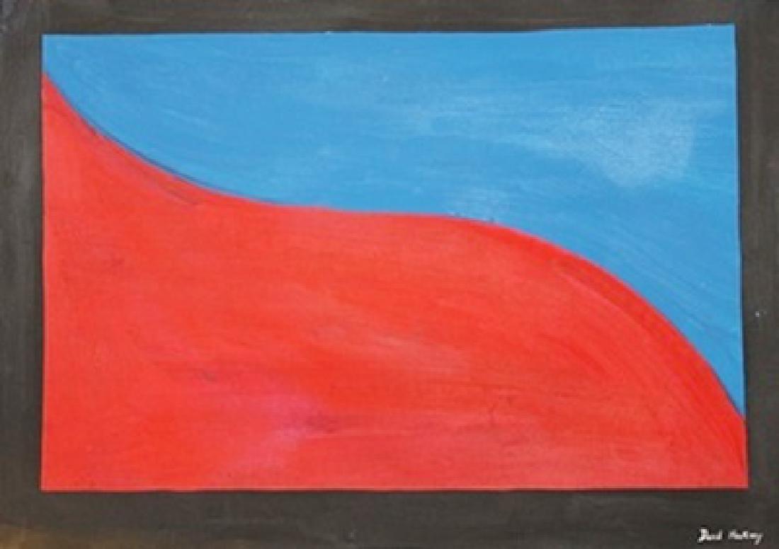 Red Blue - David Hockney - Oil On Paper