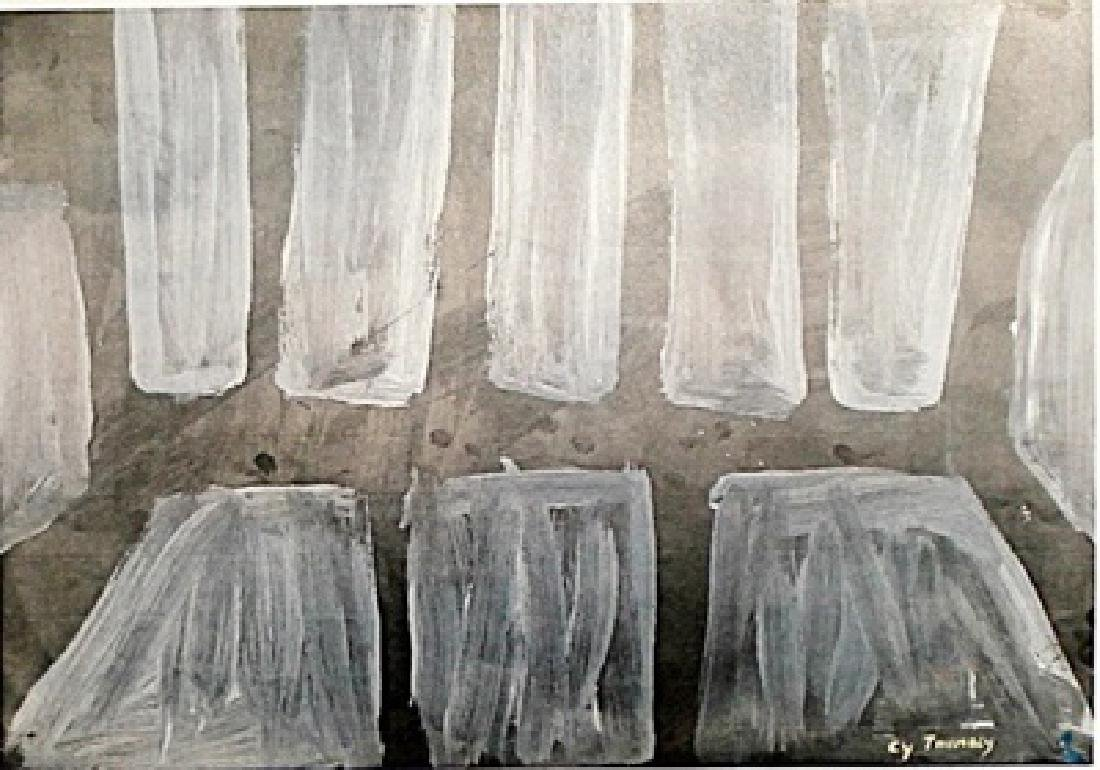 CY Twombly - Oil on Paper