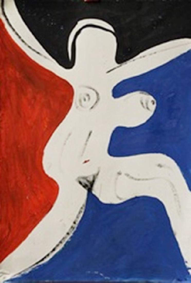Woman - Roger Hilton - Oil On Paper