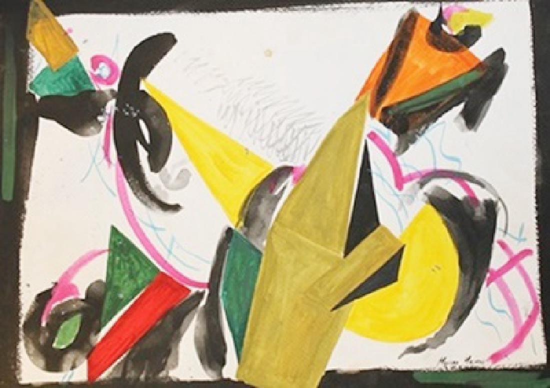 Composition - Marino Marini - Watercolor On Paper