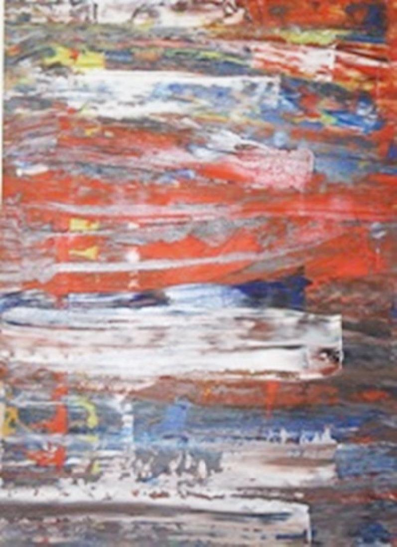 Sun Flower - Gerhard Richter - Oil On Paper