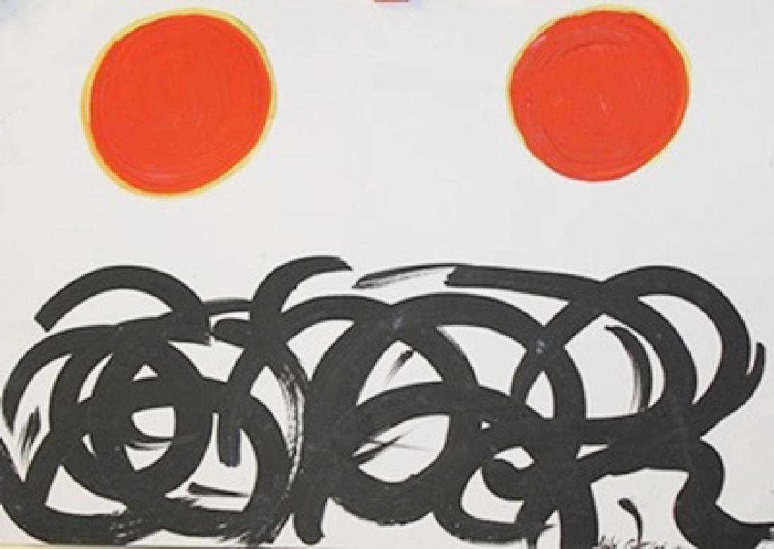 Two Sun - Adolph Gottlieb - Oil On Paper