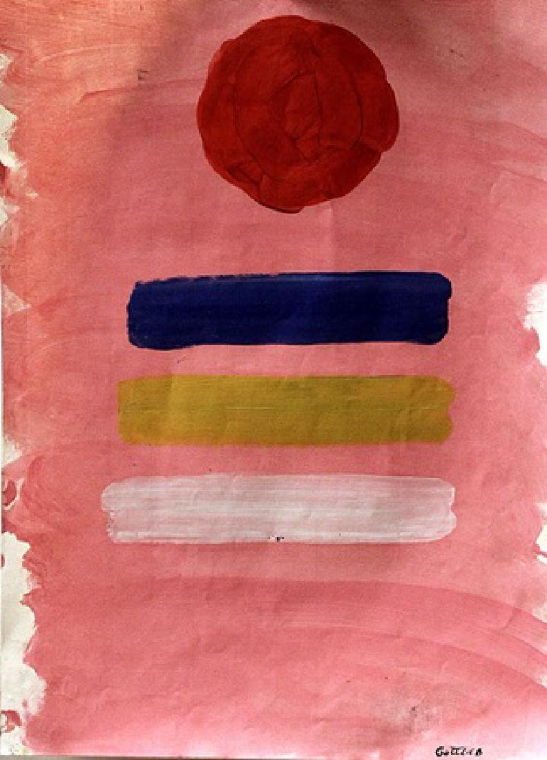 The Balance - Adolph Gottlieb - Oil On Paper
