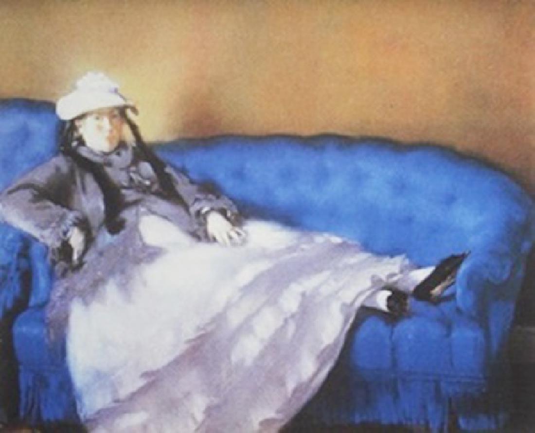 Lithograph Madame Manet on a Blue Sofa - Edouard Manet