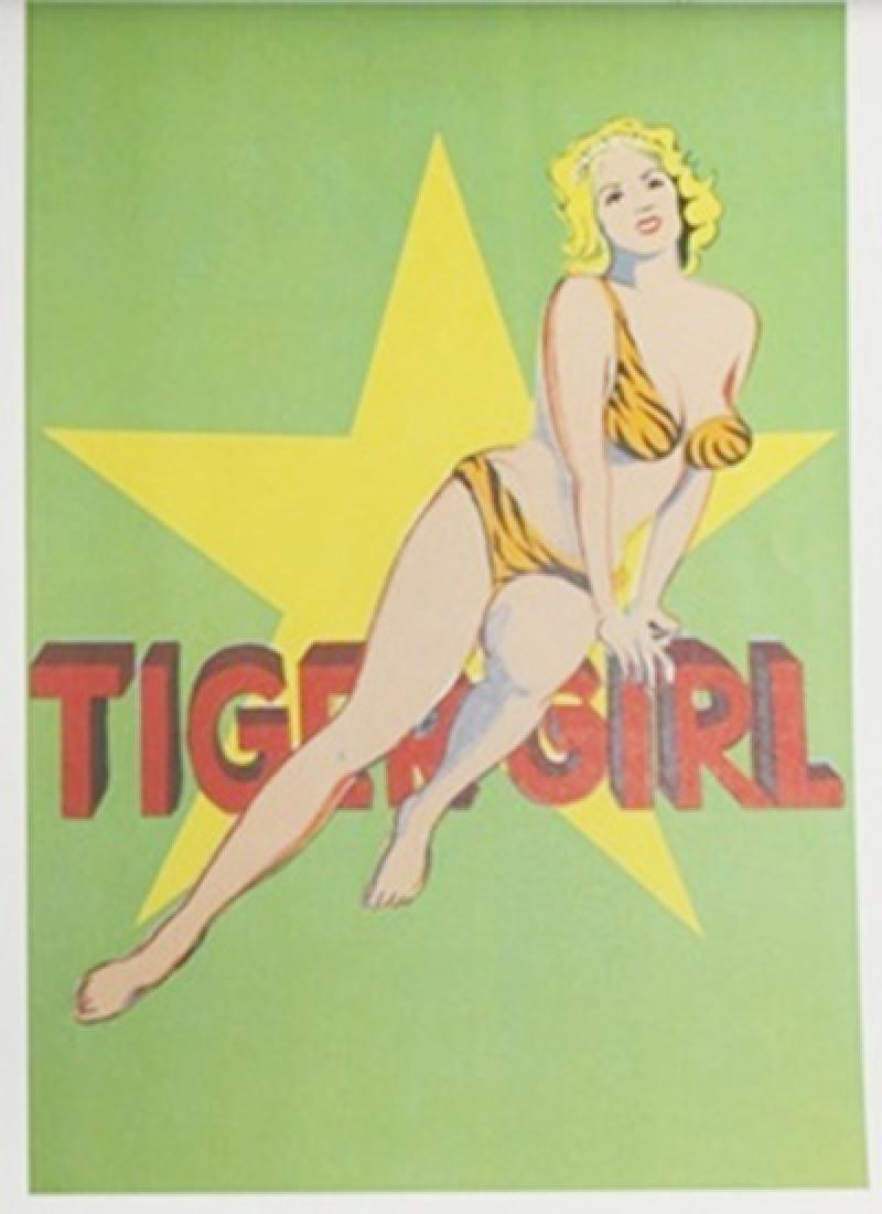 Lithograph Tiger Girl - Mel Ramos