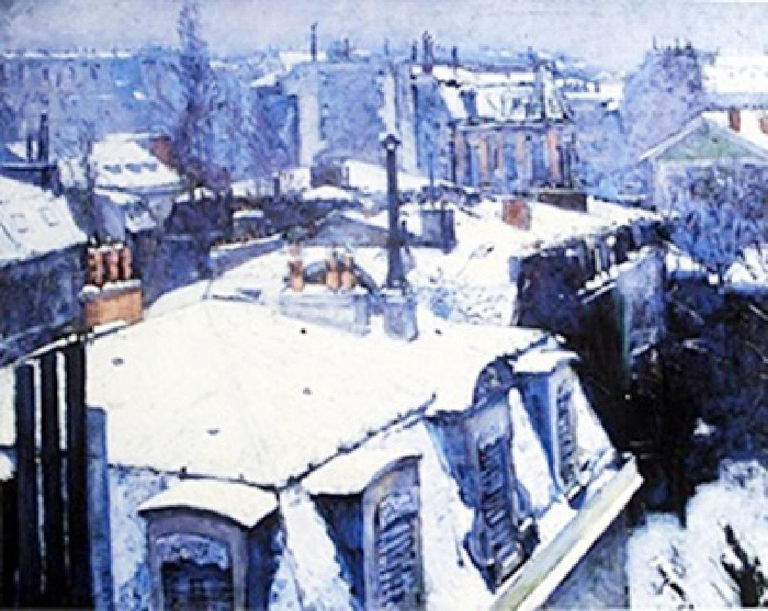 Lithograph - View of the Roofs - Alfred Sisley