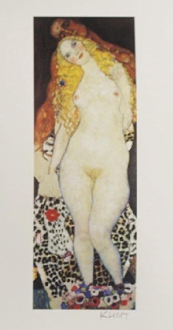 Lithograph Adam & Eve - Gustav Klimt