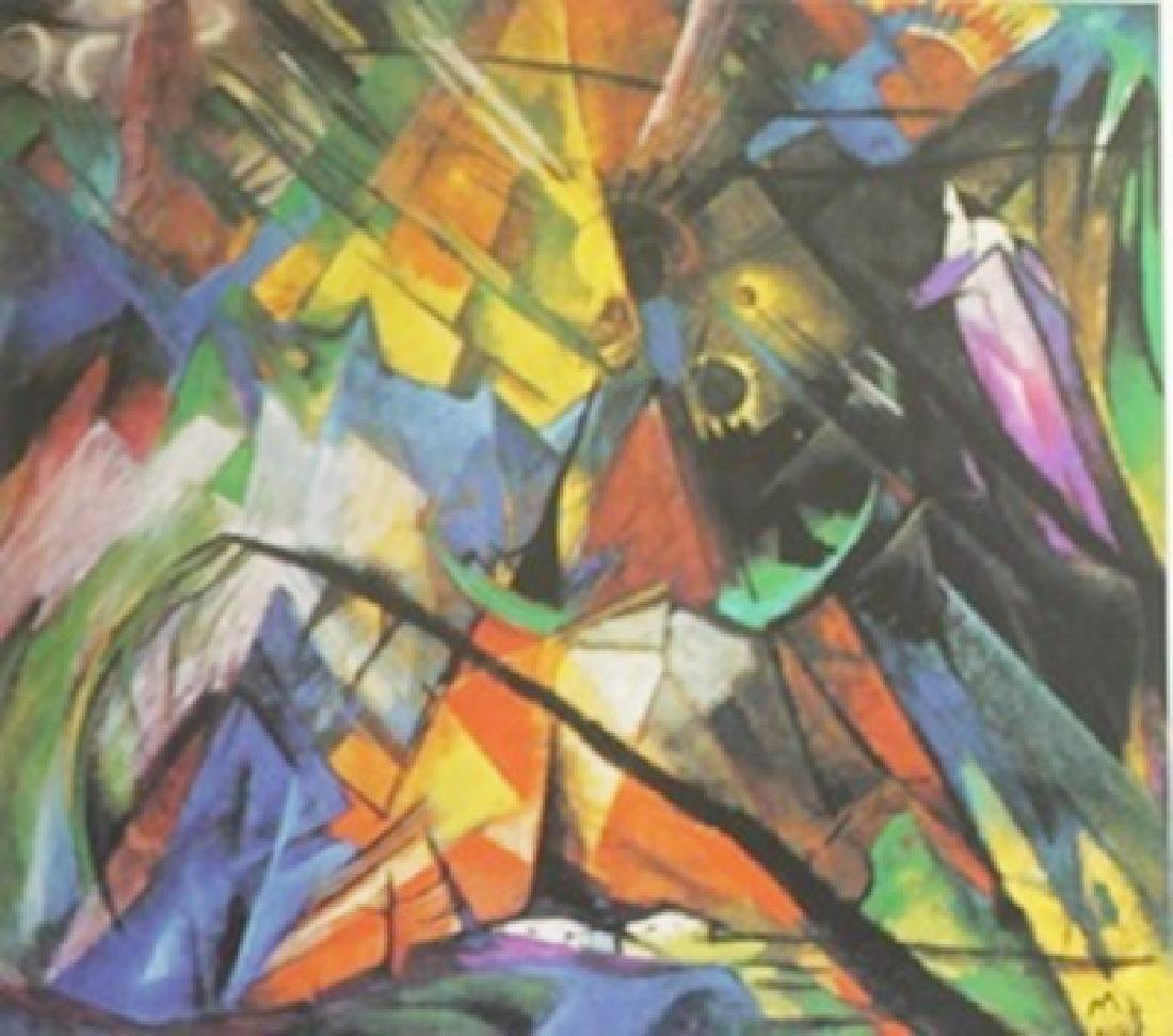 Lithograph Forms in Combat - Franz Marc