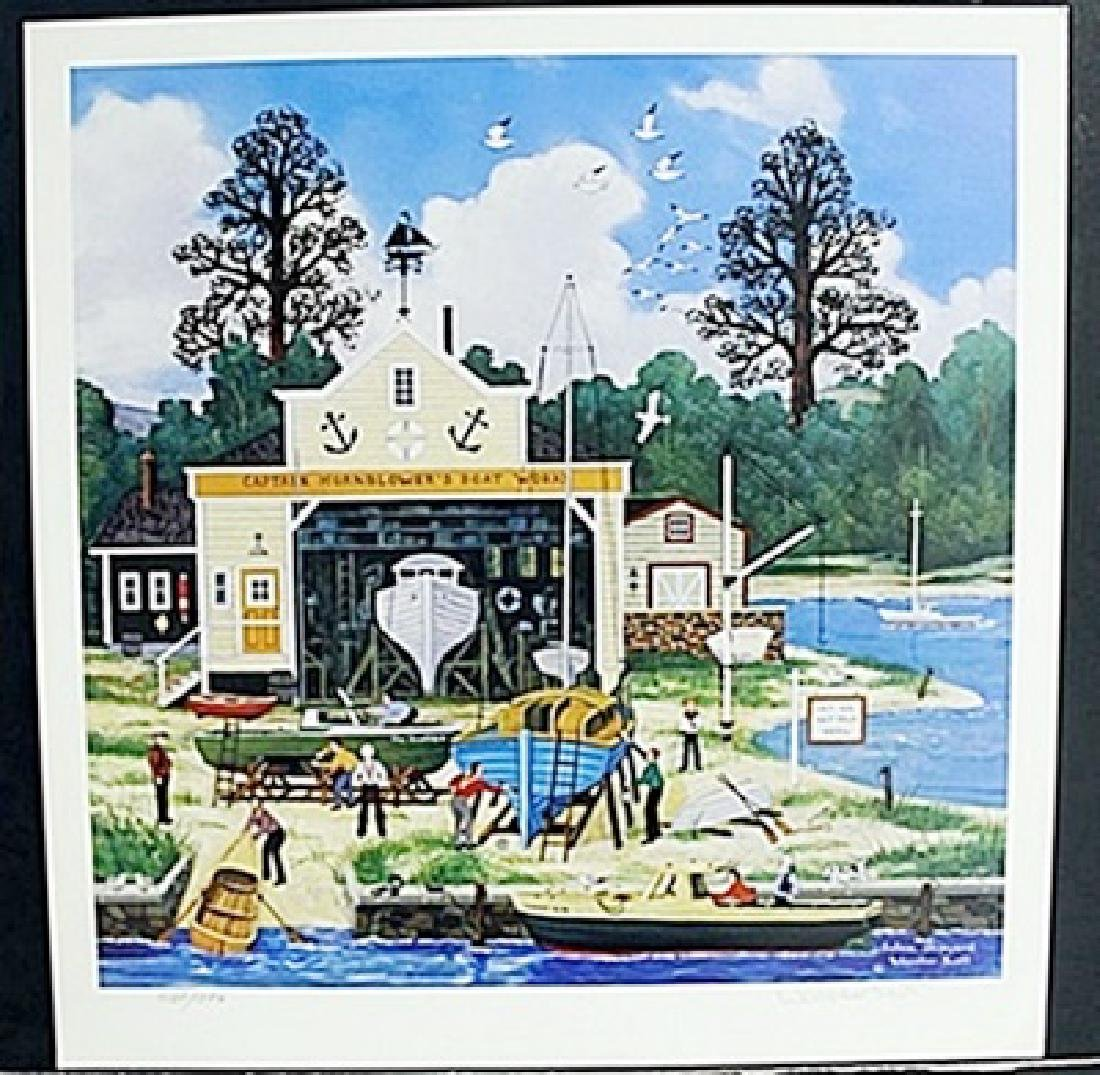 "Lithograph ""Salem Shipyard"" after Wooter Jane Scott"