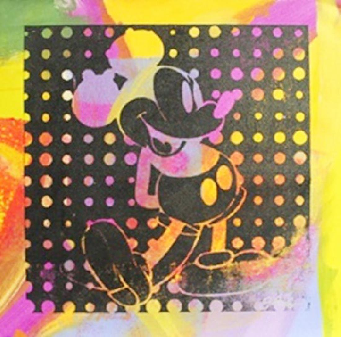 "Original Acrylic on Canvas ""Negative Mickey II"" By Gail"