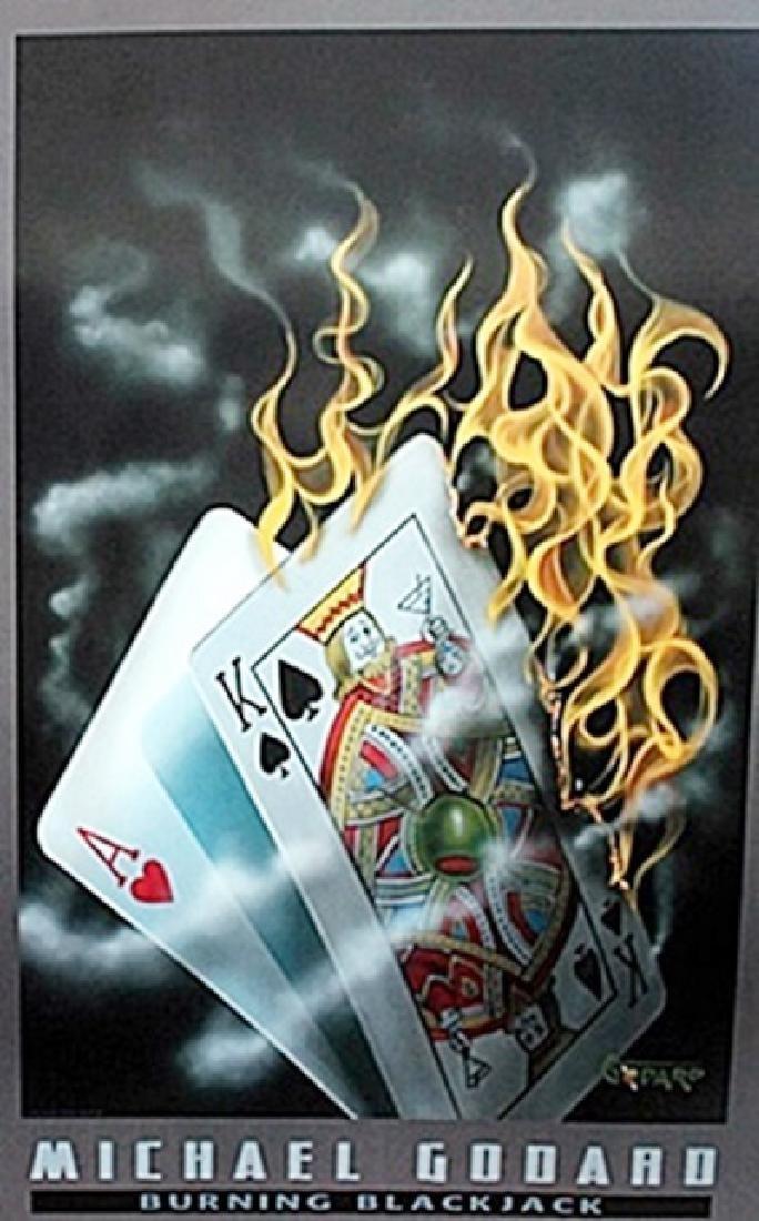 """""""Burning Blackjack""""  after Michael Godard"""