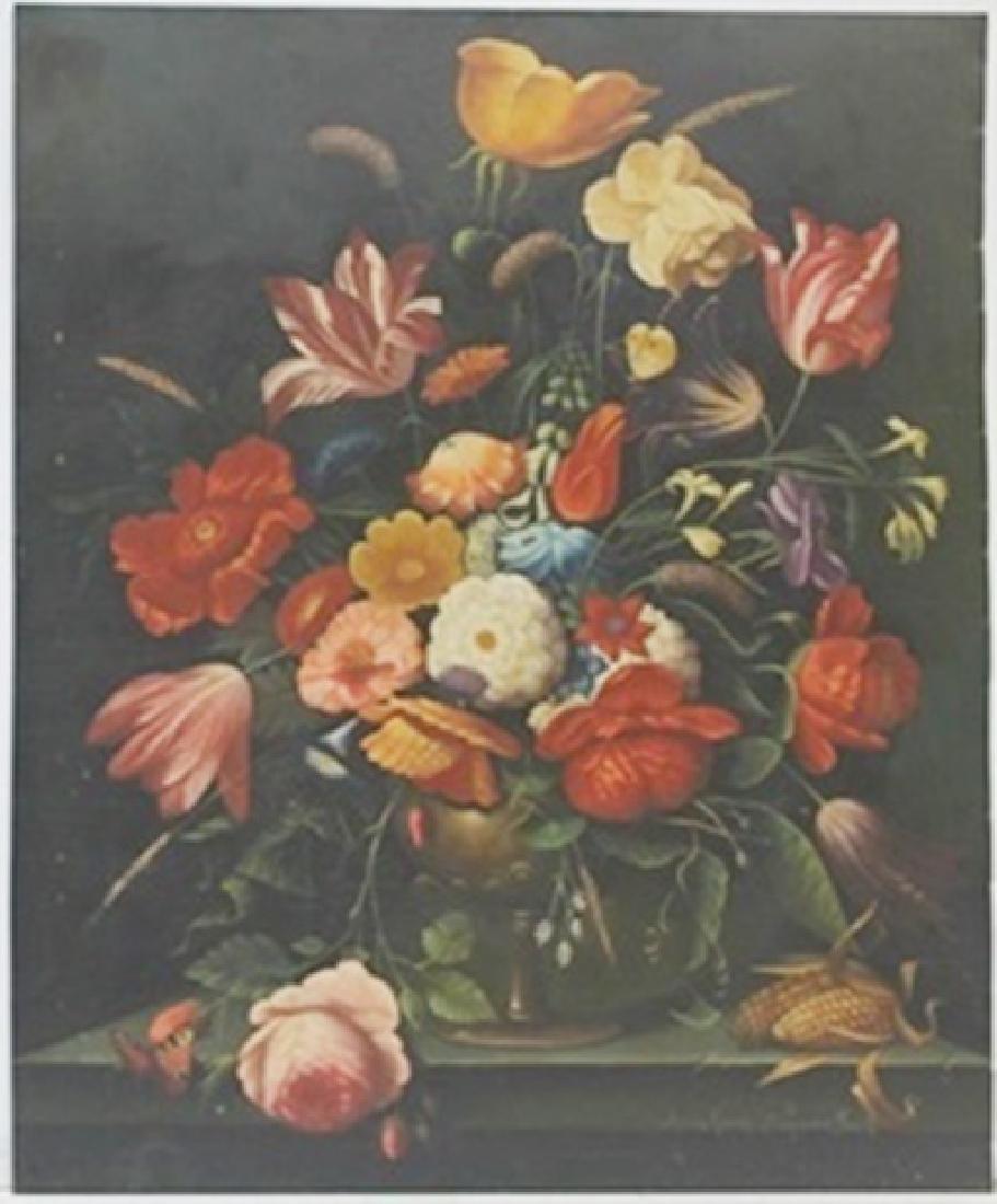 Original Oil on Copper   Abraham Mignon Fecit