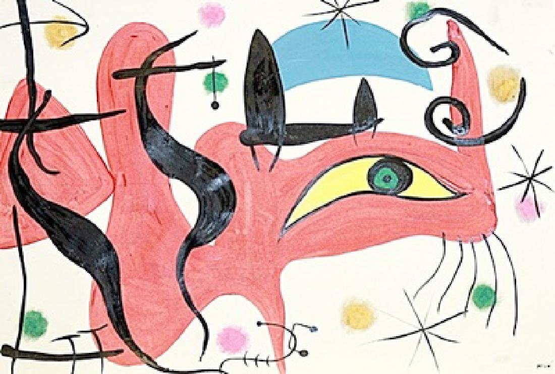 The Dragon - Joan Miro - Oil On Paper
