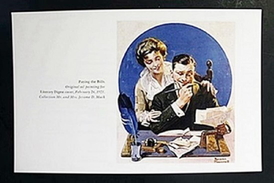 "Lithograph ""Paying the Bills""  Norman Rockwell"