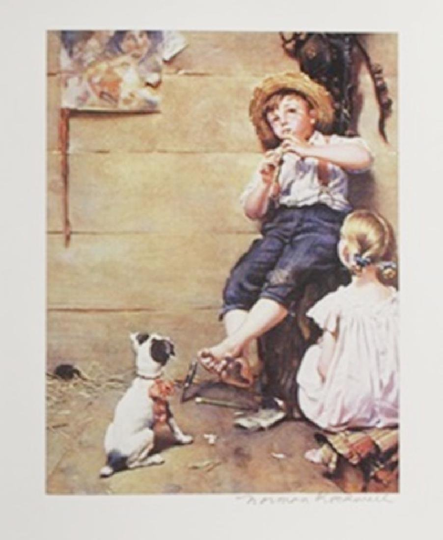 Lithograph - The Music Master - Norman Rockwell
