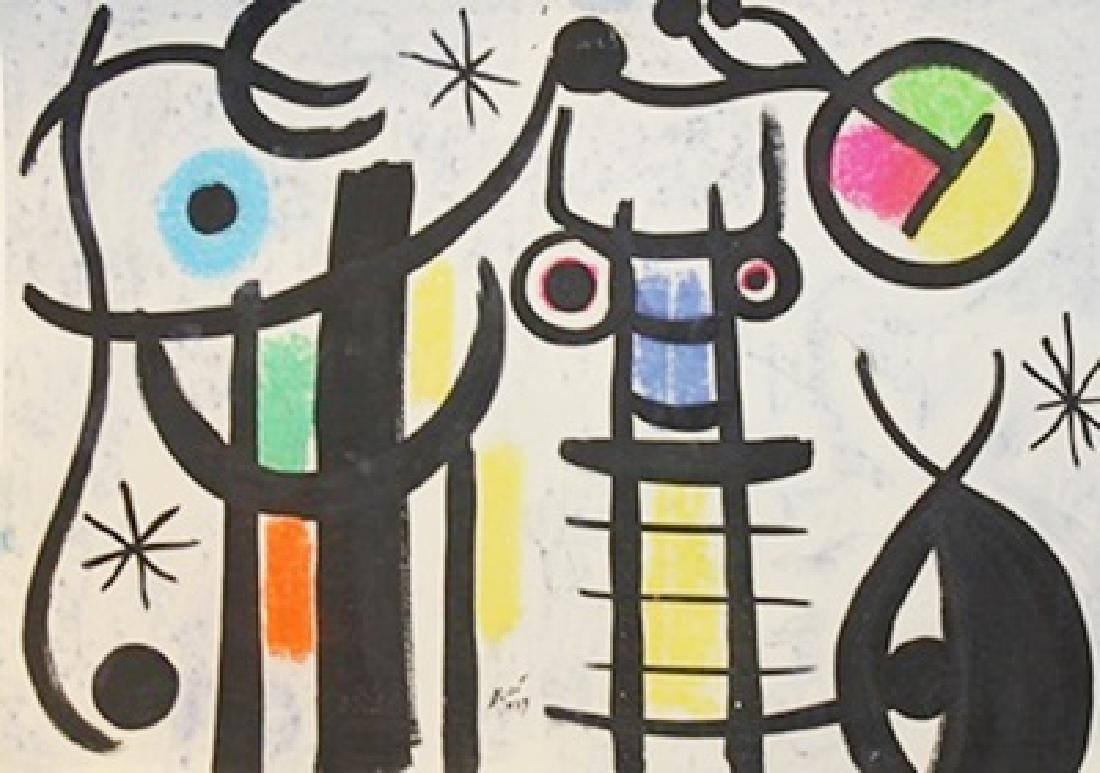 The Beach - Joan Miro - Oil On Paper