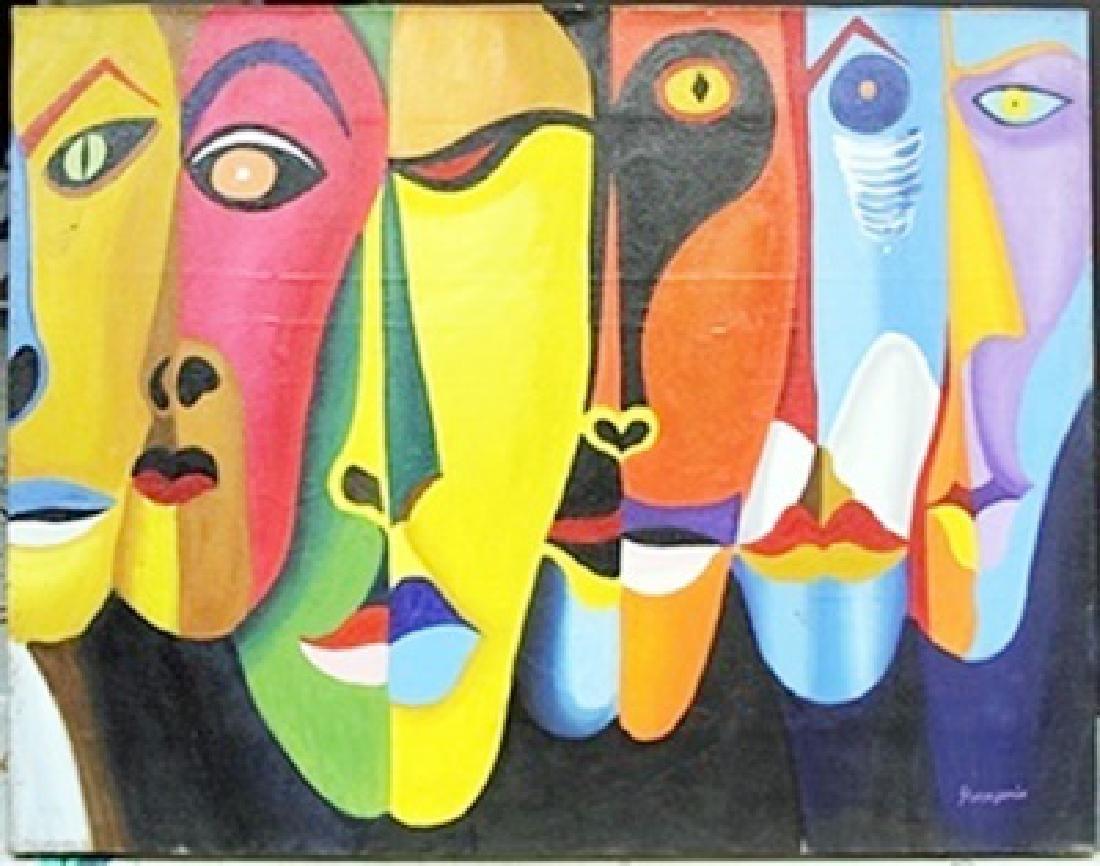 Oil Painting on Canvas -  Oswaldo Guayasamin
