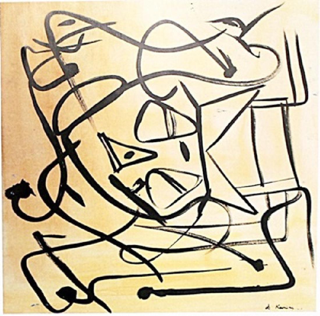Willem De Kooning - Oil on Paper