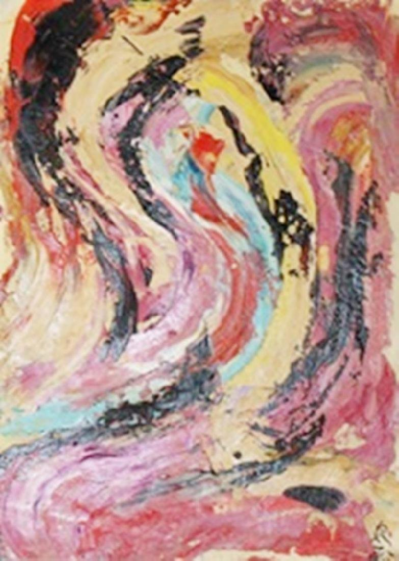 Red Black - Kazuo Shiraga - Oil On Paper