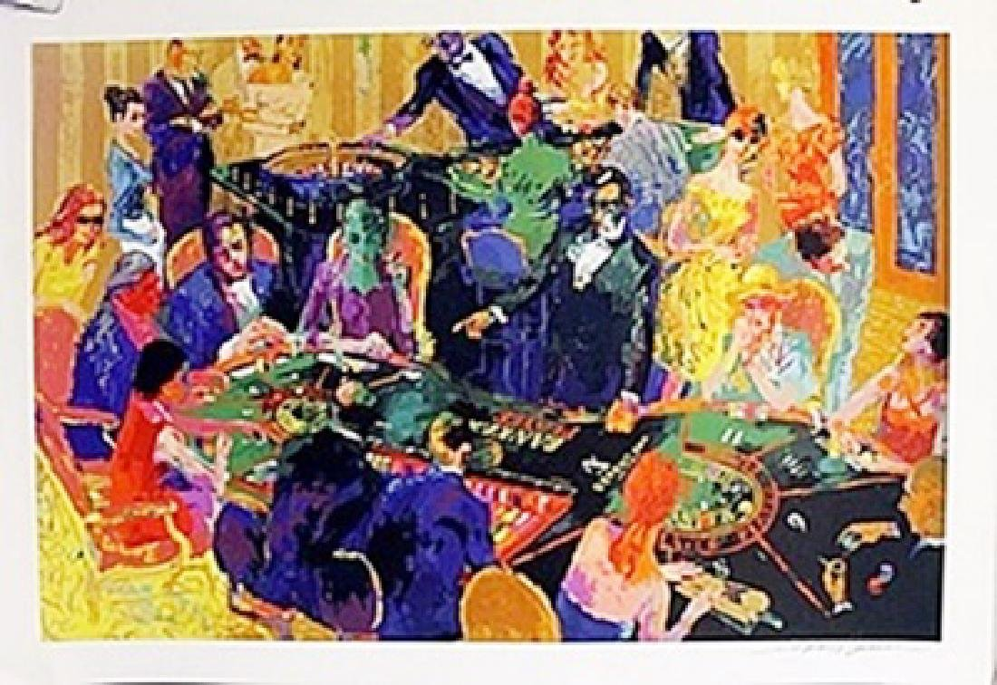 """The Players Table""  LeRoy Neiman"