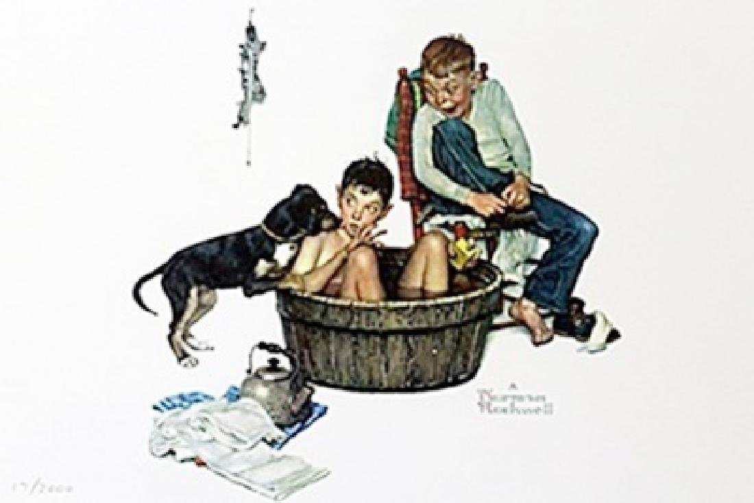 """Lickin Good Bath"" by Norman Rockwell"