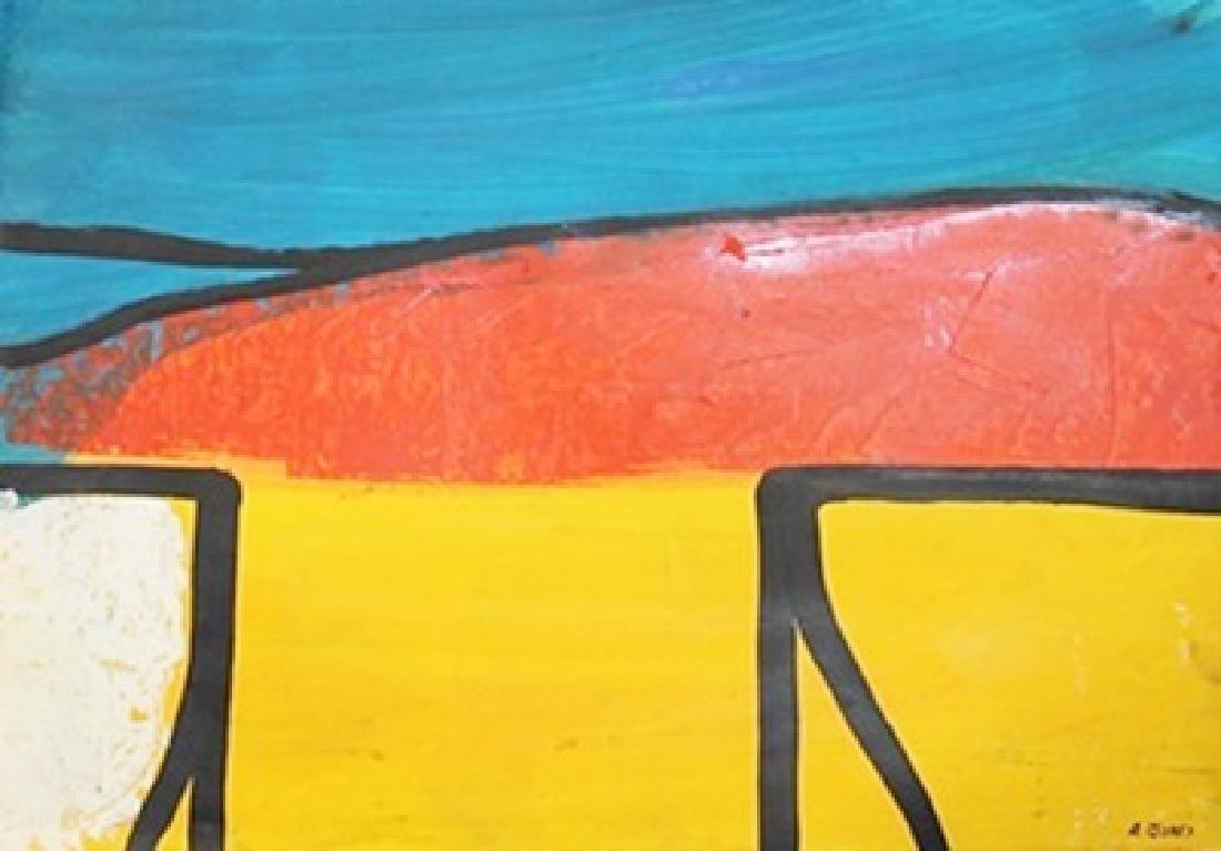 River - Allen Jones - Oil On Paper